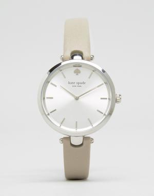 Kate Spade Часы с серым кожаным ремешком Holland 1YRU0813. Цвет: серый