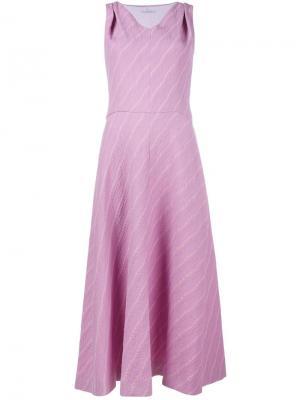 Платье в полоску без рукавов Emilia Wickstead. Цвет: розовый и фиолетовый