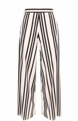 Укороченные широкие брюки в полоску Alice + Olivia. Цвет: разноцветный
