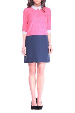 Платье Laura Bettini. Цвет: розовый, темно-синий, бело-сер