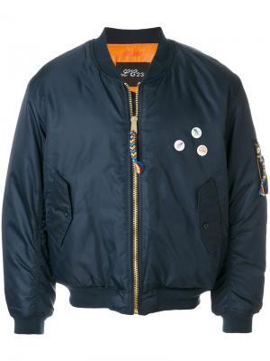 Куртка с динозавром Lc23. Цвет: синий