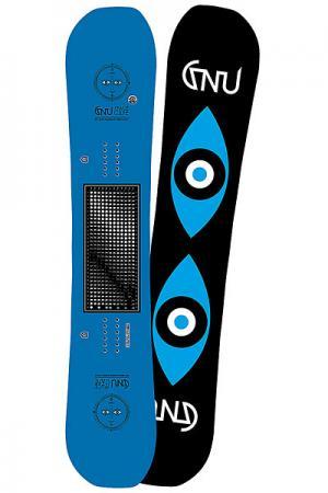 Сноуборд  Fb Spcecase Blue As Ast GNU. Цвет: синий,черный