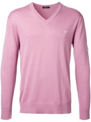 Джемпер с вышивкой черепа Loveless. Цвет: розовый и фиолетовый