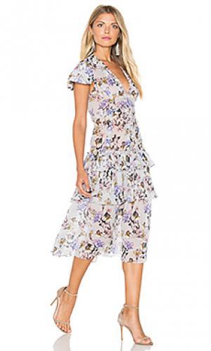 Платье миди lana Marissa Webb. Цвет: серый