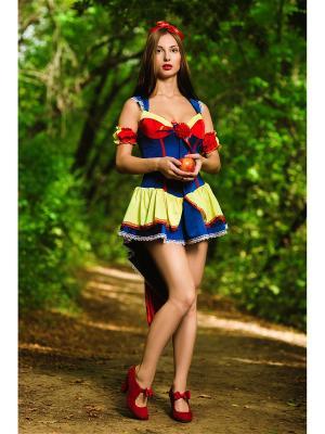 Костюм белоснежки La Mascarade. Цвет: синий,красный,желтый,белый