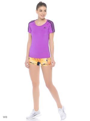 Футболка спортивная Adidas. Цвет: фиолетовый