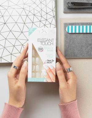 Elegant Touch Полуквадратные накладные ногти Totally Bare. Цвет: очистить