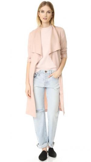 Пальто Abria с драпировкой спереди cupcakes and cashmere. Цвет: бледно-розовый