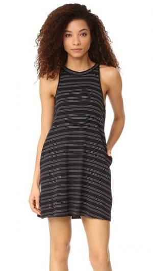 Платье Mesa Knot Sisters. Цвет: черный с кремовыми полосками