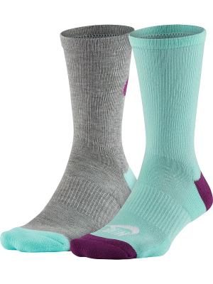 Носки NSW WOMENS -2PPK JUS Nike. Цвет: серый, голубой, фиолетовый