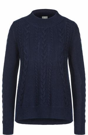 Кашемировый пуловер фактурной вязки FTC. Цвет: темно-синий