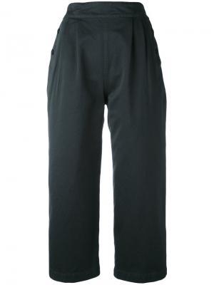 Широкие укороченные брюки Margaret Howell. Цвет: синий