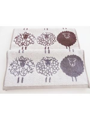 Полотенца банные A and C Collection. Цвет: светло-серый, серый