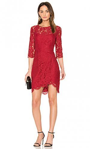 Мини платье joby cupcakes and cashmere. Цвет: красный