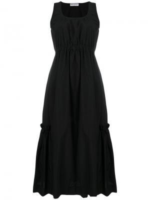 Расклешенное платье  с открытой спиной Molly Goddard. Цвет: чёрный