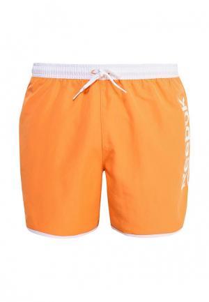 Шорты для плавания Reebok. Цвет: оранжевый