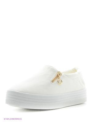 Слипоны Litto. Цвет: белый