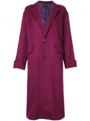 Длинное пальто свободного кроя G.V.G.V.. Цвет: розовый и фиолетовый