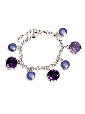 Браслет Asirelly. Цвет: серебристый, фиолетовый