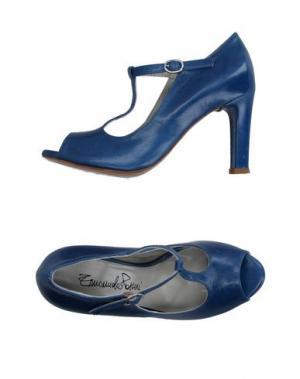 Туфли EMANUELA PASSERI. Цвет: синий