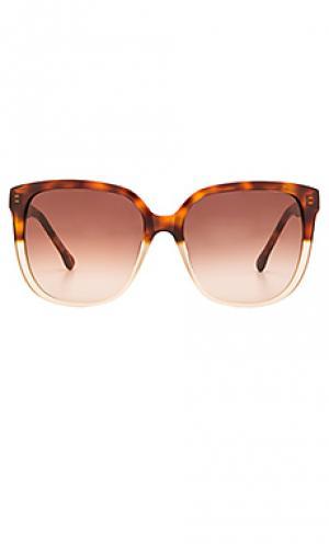 Солнцезащитные очки elmont Steven Alan. Цвет: коричневый