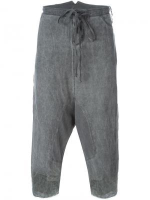 Укороченные брюки с заниженной проймой Lost & Found Rooms. Цвет: серый
