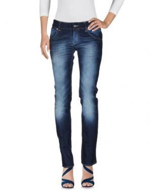 Джинсовые брюки DON WASH. Цвет: синий