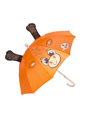 Зонт Mitya Veselkov. Цвет: оранжевый, черный