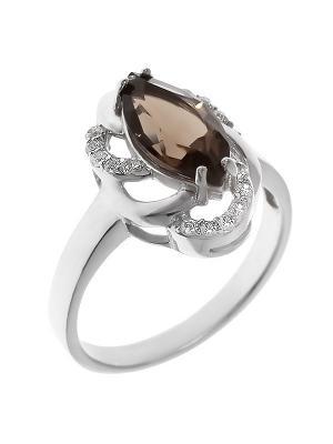 Кольцо BALEX. Цвет: коричневый, серебристый