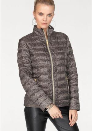 Стеганая куртка Laura Scott. Цвет: серо-коричневый