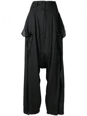 Расклешенные брюки с завышенной талией Barbara I Gongini. Цвет: чёрный