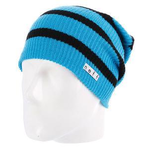 Шапка носок  Daily Stripe Cyan/Black Neff. Цвет: синий,черный