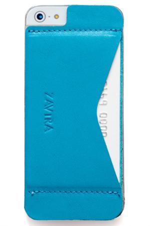 Кошелек-накладка iPhone 5/5s ZAVTRA. Цвет: голубой