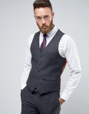 Harry Brown Узкий жилет. Цвет: серый
