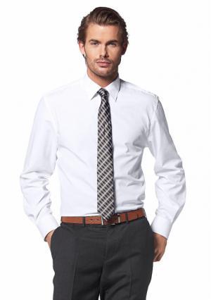 Рубашка Class International. Цвет: белый, бордовый