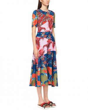 Платье с принтом House of Holland. Цвет: разноцветный