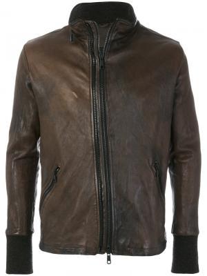 Куртка кроя слим Giorgio Brato. Цвет: коричневый