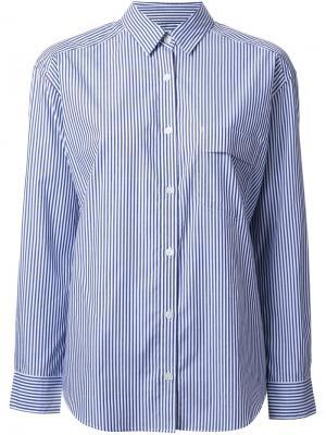 Полосатая рубашка Cityshop. Цвет: синий