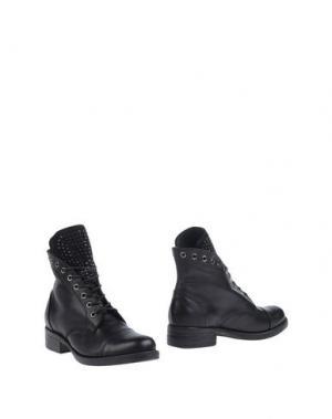 Полусапоги и высокие ботинки PIAMPIANI. Цвет: черный