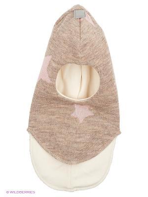 Шапка-шлем Kivat. Цвет: бежевый, бледно-розовый