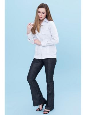 Блузка DEMURYA. Цвет: серый,белый