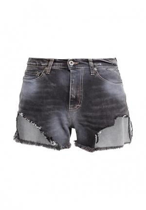 Шорты джинсовые Please. Цвет: серый