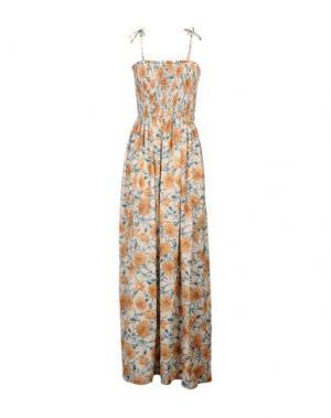 Длинное платье VICOLO. Цвет: бежевый