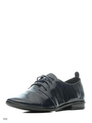 Туфли HUADA. Цвет: темно-синий, черный