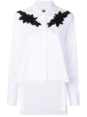 Рубашка с кружевной аппликацией IM Isola Marras I'M. Цвет: белый