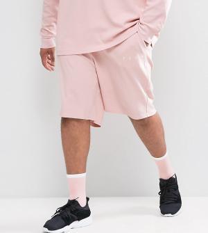 Puma Розовые шорты из вафельного трикотажа PLUS эксклюзивно для ASOS. Цвет: розовый