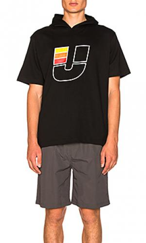 Футболка с капюшоном u ss Undefeated. Цвет: черный