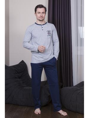Пижама мужская Oztas underwear. Цвет: антрацитовый, серый