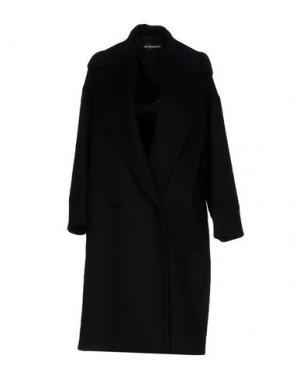 Пальто GIO' GUERRERI. Цвет: черный