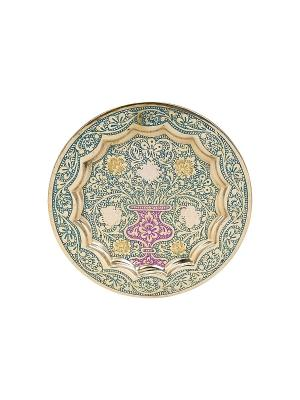 Тарелка декоративная ETHNIC CHIC. Цвет: зеленый, золотистый, сиреневый